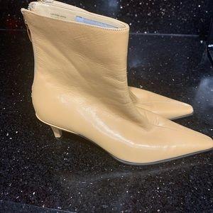 Tan Anne Klein ankle boots